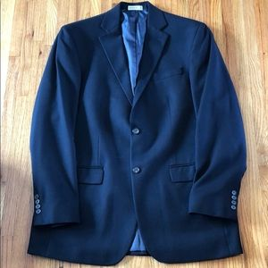 Men's Geoffrey Beene Navy Blue Suit Coat 40L